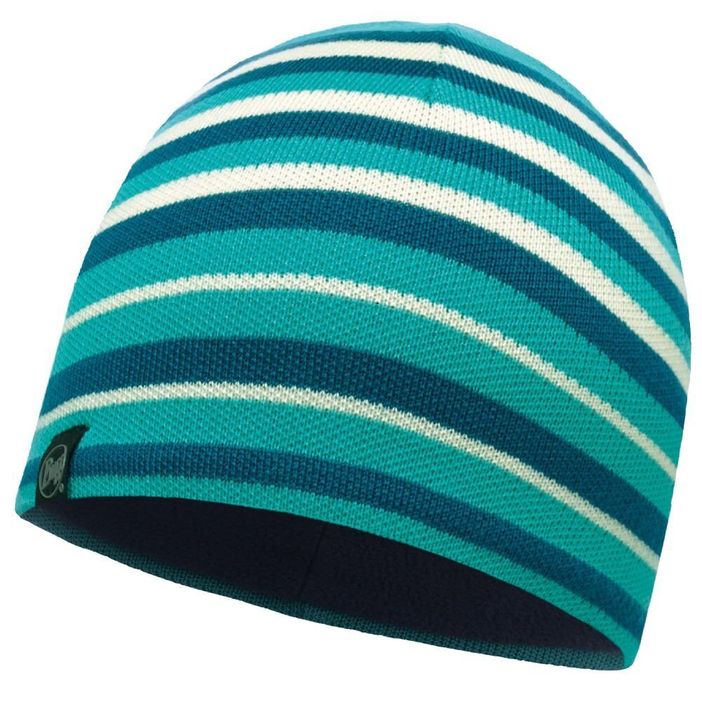 Шапка Buff Knitted & Polar Hat Laki stripes turqoise BU 113520.739.10.00