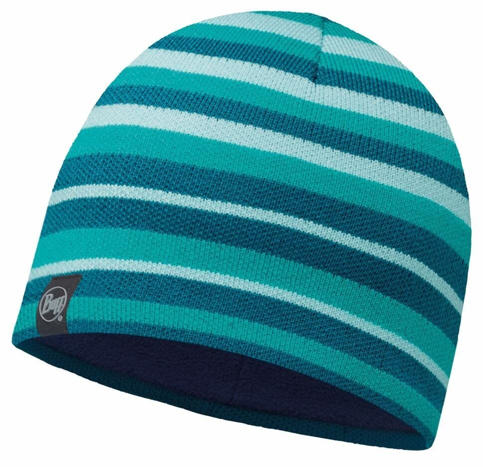 Шапка Buff Knitted & Polar Hat Laki stripes blue BU 113520.789.10.00