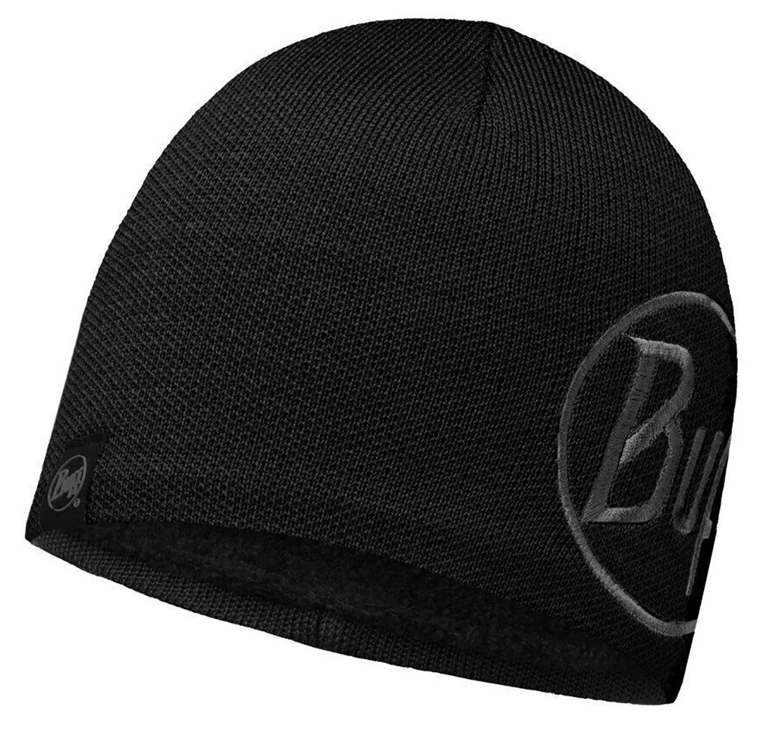 Шапка Buff Knitted & Polar Hat Solid Logo black BU 113518.999.10.00