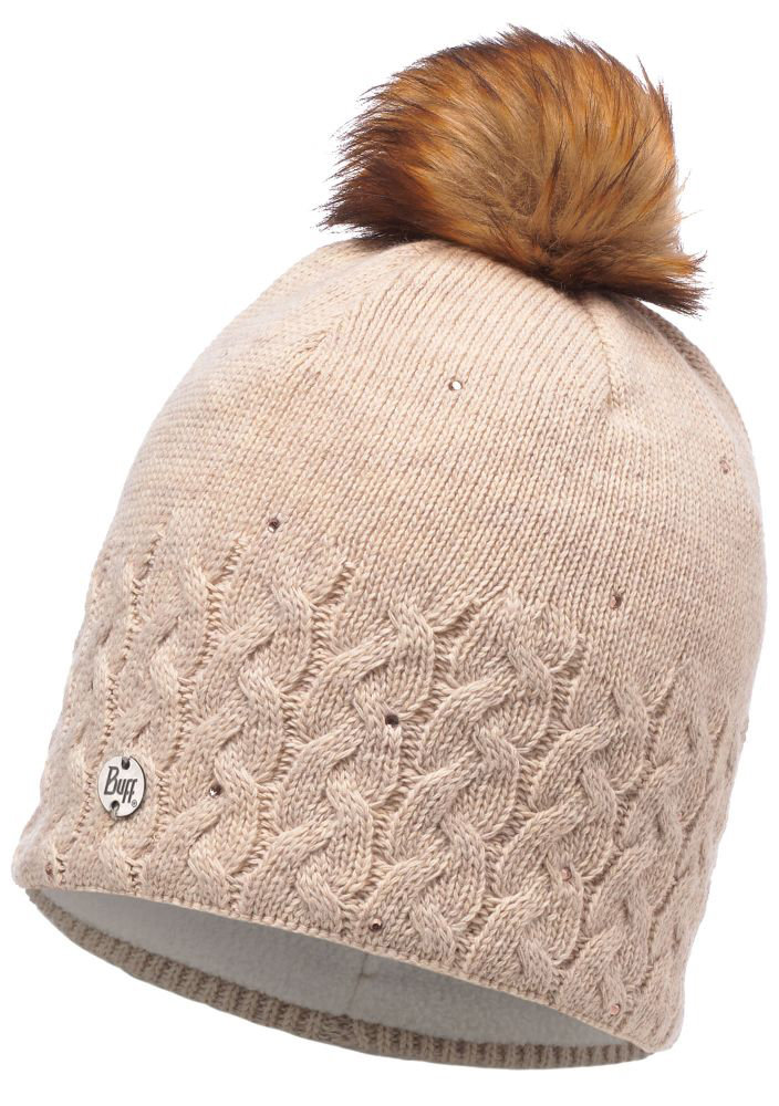 Шапка с помпоном Buff Knitted & Polar Hat elie beige BU 116012.328.10.00