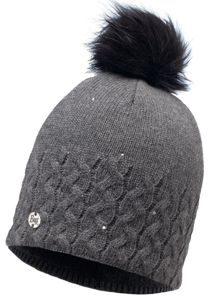 Шапка с помпоном Buff Knitted & Polar Hat elie grey BU 116012.937.10.00