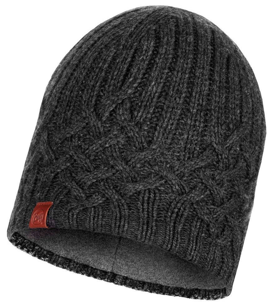 Шапка Buff Knitted & Polar Hat Helle graphite BU 117844.901.10.00
