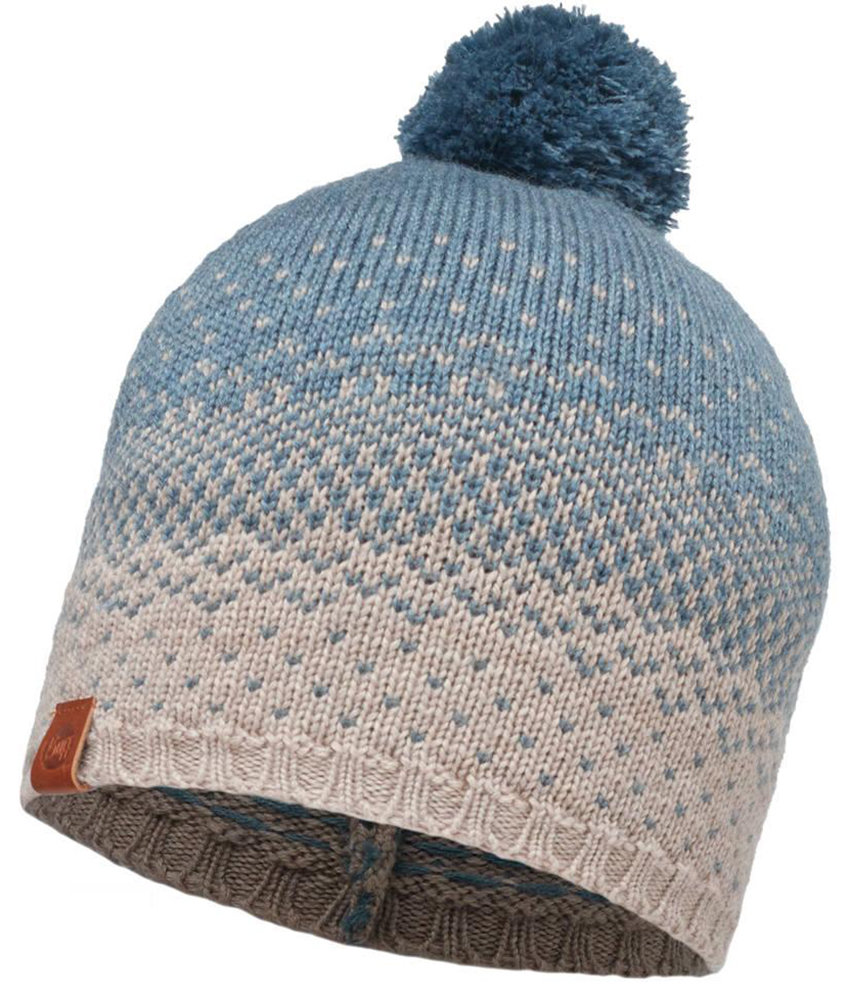 Шапка с помпоном Buff Knitted Hat mawi stone blue BU 2010.754.10