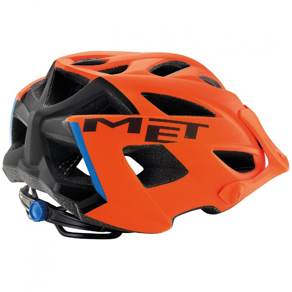 Шлем MET Terra orange/black/blue 3HELM 91 UN AS