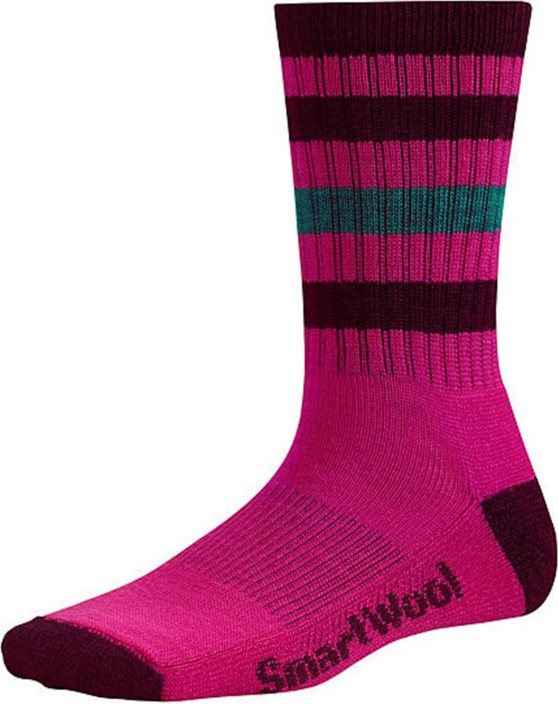 Носки женские Smartwool Striped Hike Light Crew Socks (Bright Pink) SW SW143.684-M SW SW143.684-S