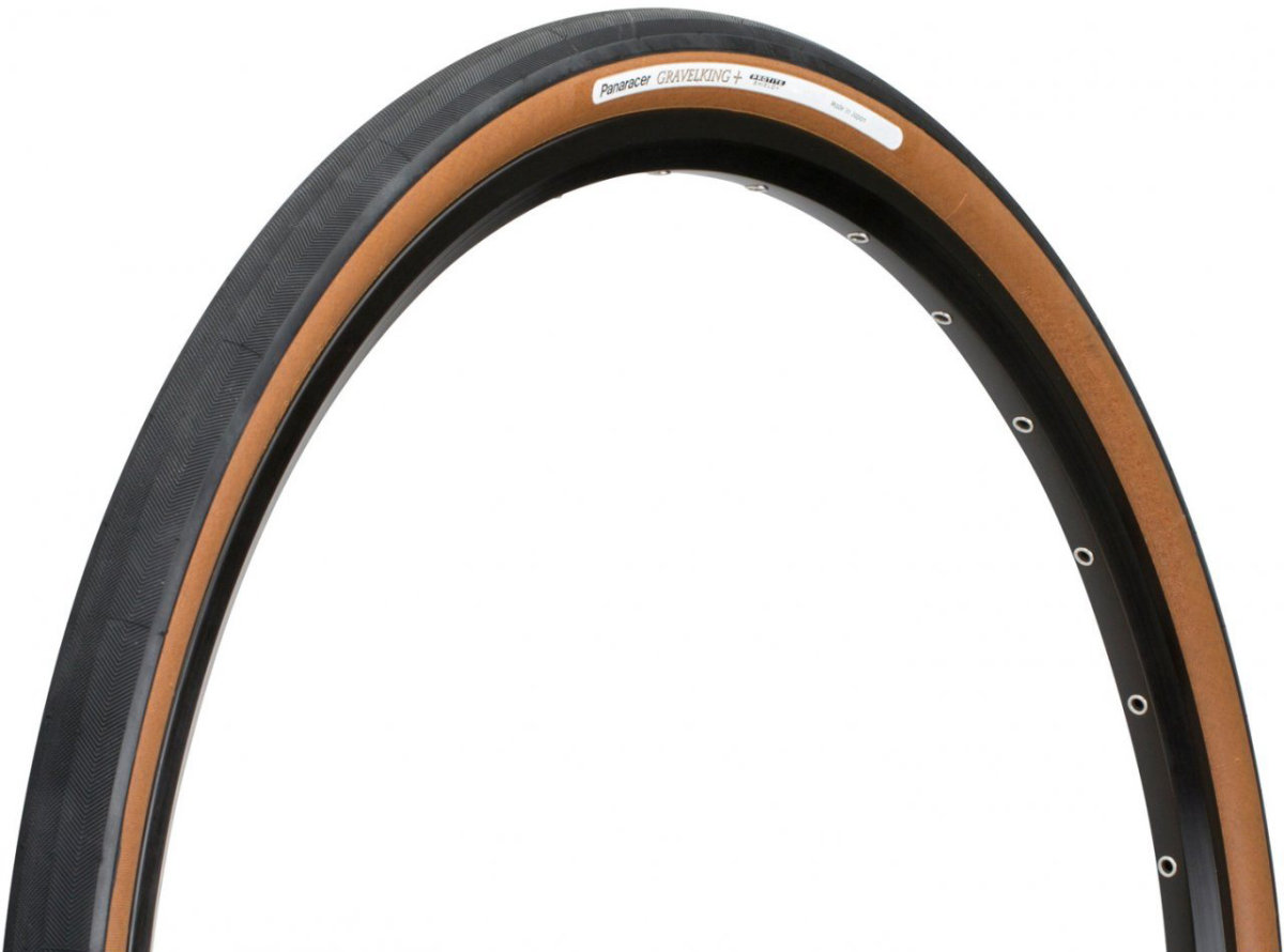 Покрышка Panaracer Gravelking+, 700x35C Black/Brown