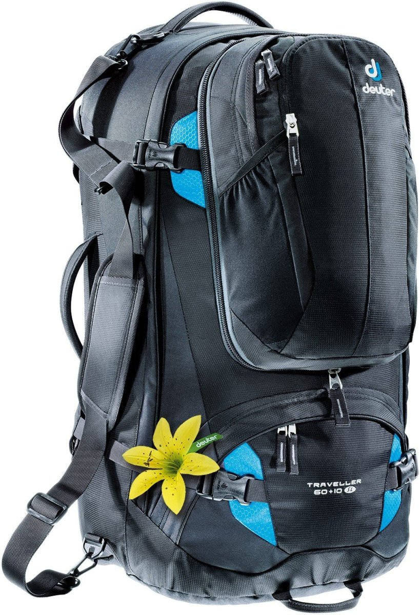 Рюкзак Deuter Traveller 60 + 10 SL цвет 7321 black-turquoise 3510015 7321