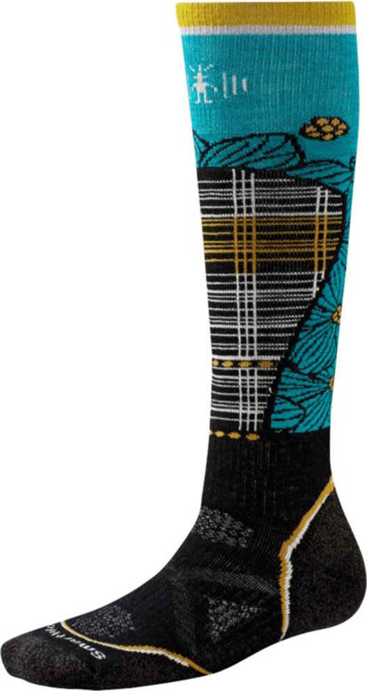 Носки женские Smartwool PhD Ski Medium Pattern (Black/Capri) SW SW268.716-M
