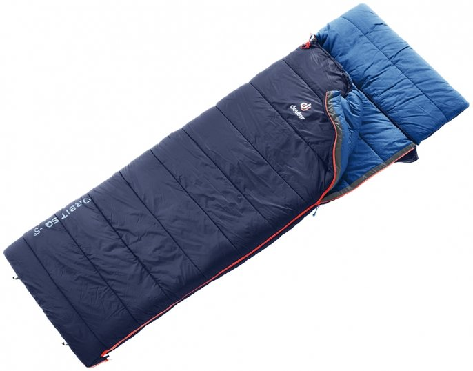 Спальник Deuter Orbit SQ -5° цвет 3320 navy-steel правый 3702119 3320 0