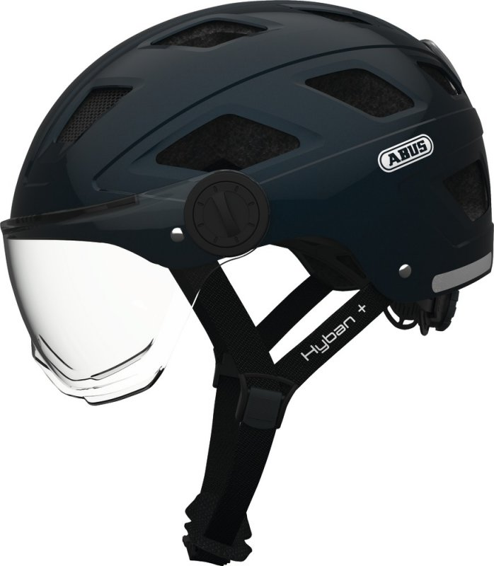 Велосипедный шлем Abus HYBAN+ clear visor midnight blue 726385