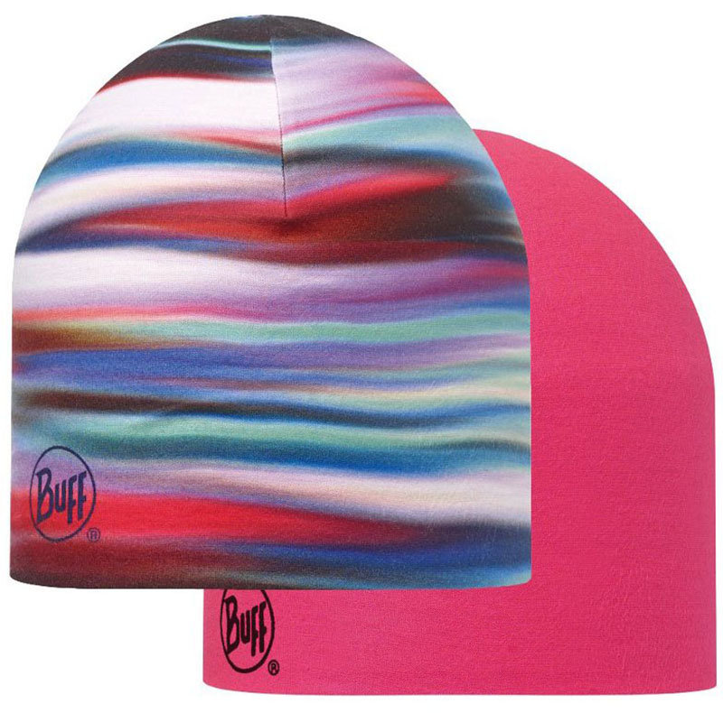 Шапка BUFF COOLMAX REVERSIBLE HAT lesh multi-deep fuchsia BU 111511.555.10.00