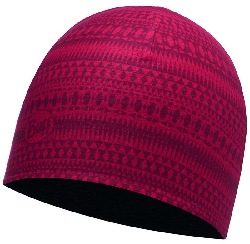 Шапка BUFF COOLMAX REVERSIBLE HAT portus red-black BU 113681.425.10.00