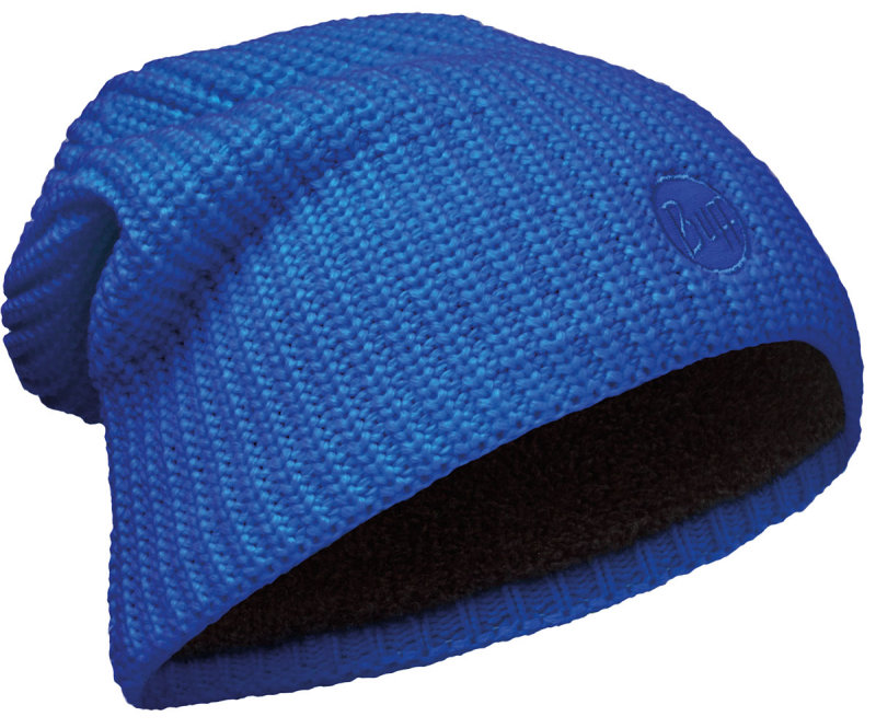 Шапка BUFF KNITTED POLAR HAT DRIP blue skydiver BU 110981.703.10.00