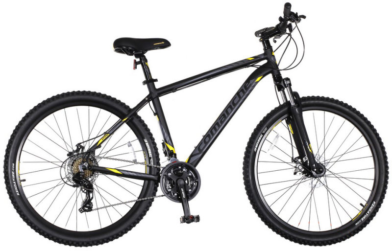 Велосипед Comanche PRAIRIE DISC 27,5 black/yellow CH100223, CH100224, CH100225, CH100222