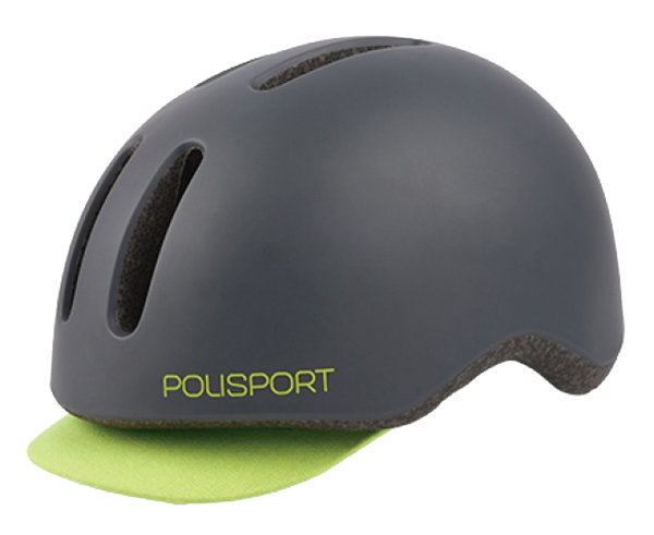 Велосипедный шлем Polisport COMMUTER dark grey matte-yellow 8740700006