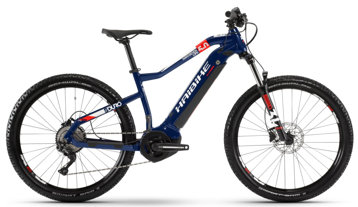 Электровелосипед Haibike SDURO HardSeven Life 5.0 500Wh blue/red/white 4540210040