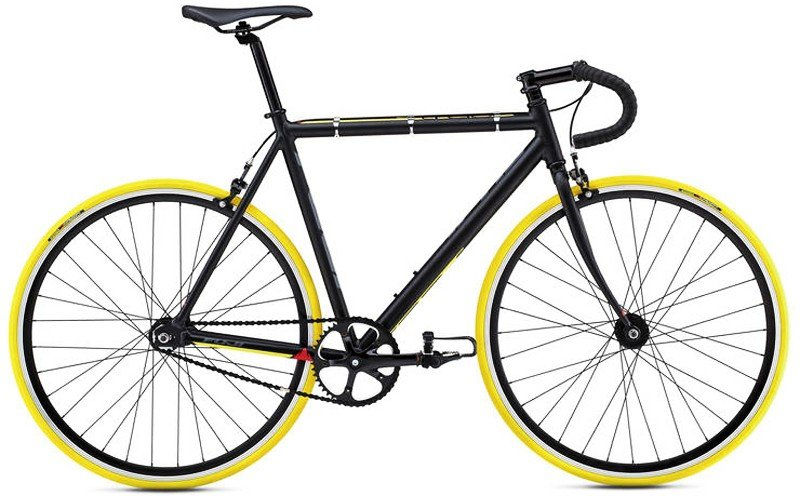 Велосипед Fuji TRACK 2.1 black-yellow