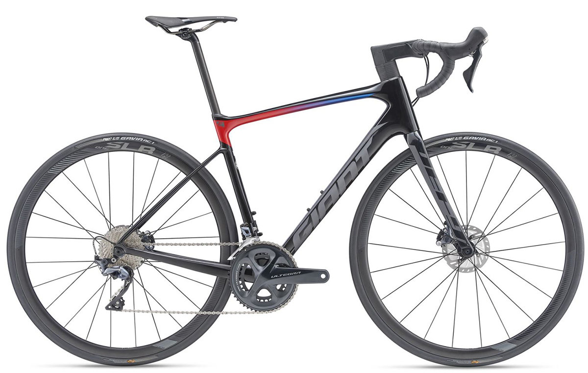Велосипед Giant DEFY ADVANCED PRO 1 carbon electric blue-red 90004114S