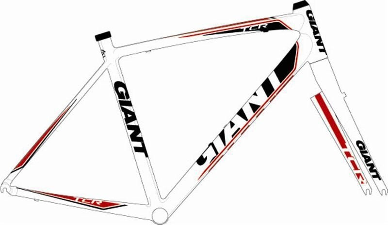 Рама Giant TCR white-red-black 0TCR0TWRM2