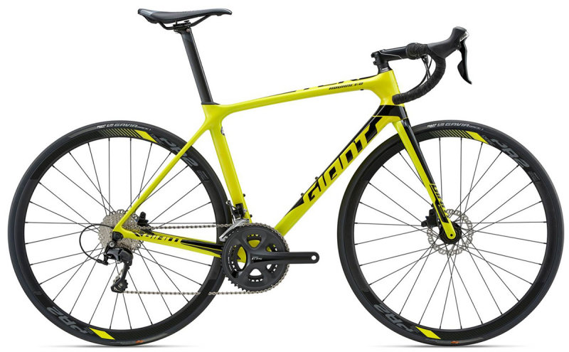 Велосипед Giant TCR ADVANCED 2 DISC king of mountain yellow 83103725