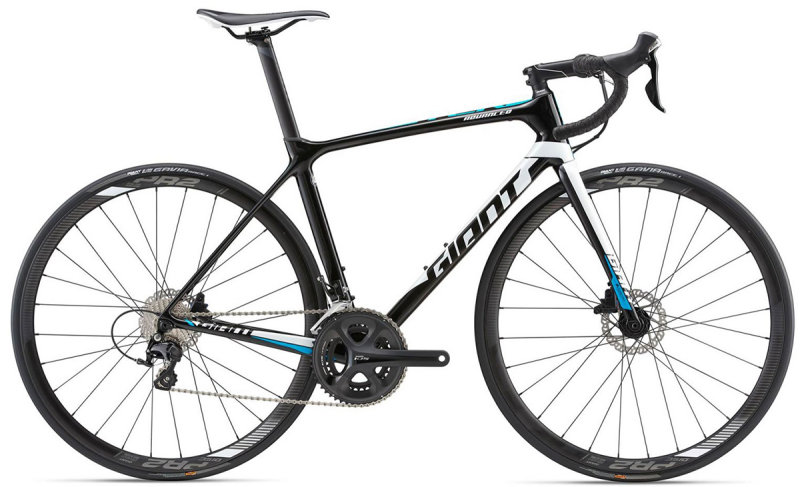 Велосипед Giant TCR ADVANCED 2 DISC black 80004316