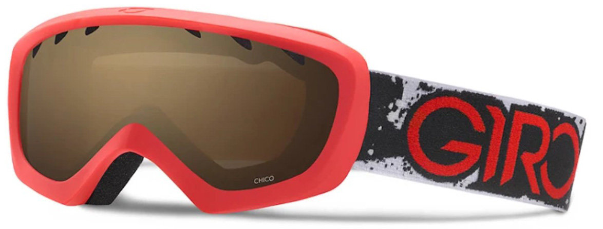 Маска горнолыжная Giro CHICO red-black camo amber rose 40%