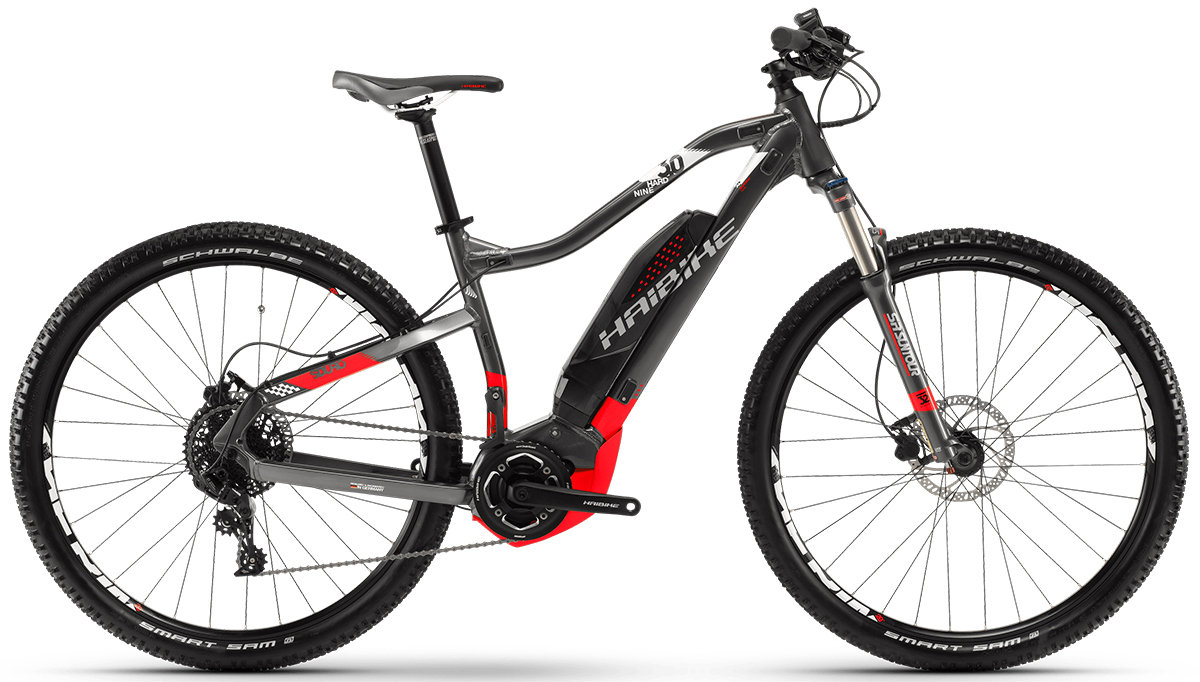 Велосипед Haibike SDURO HARNINE 3.0 29 titan-red-white