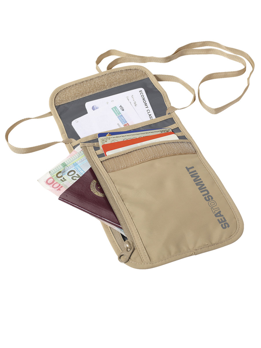 Кошелек Sea to Summit TL 5 Neck Wallet на шею Sand/Grey STS ATLNW5SA