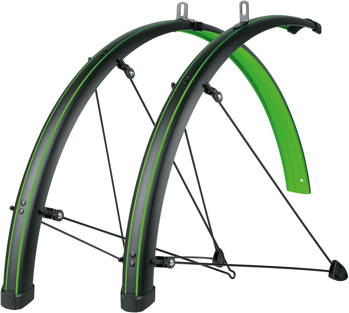 Крылья SKS Bluemels Stingray Mudguards 45mm 28˝ Matt Black/Lime Green 813437