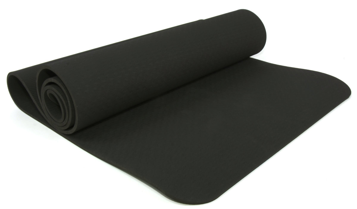 Мат Для Йоги Lifesport 183X61Cm 6Mm Yoga Mat Tpe(Single Layer) HK2308-black