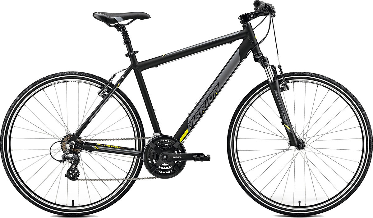 Велосипед Merida CROSSWAY 10-V matt black yellow 6110795126 6110795148 6110795159