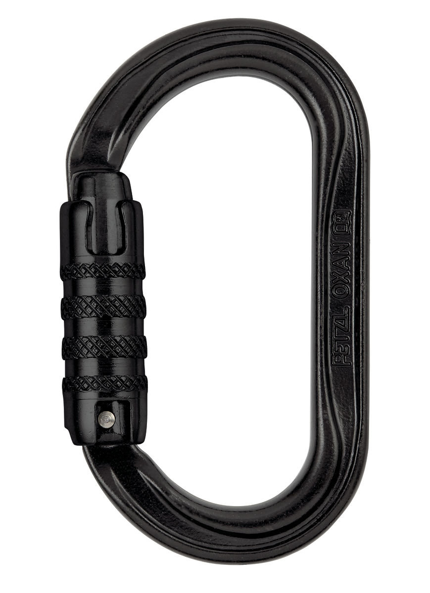 Карабин Petzl OXAN screw-lock steel black