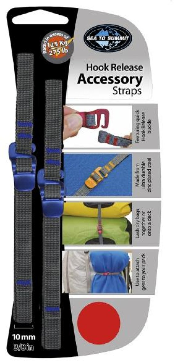 Ремень Sea to Summit Accessory Strap With Hook Buckle 10mm для мешков 1.5 m STS ATDASH101.5