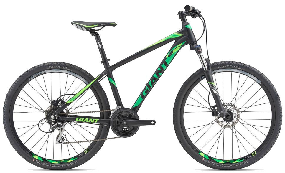 Велосипед Giant RINCON DISC 27.5 black-green 91642366