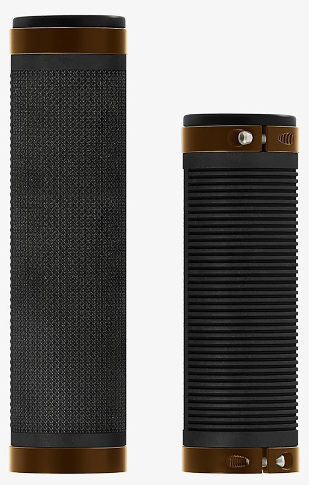 Ручки руля Brooks Cambium Rubber Grips 100/130 mm Black/Orange 016824