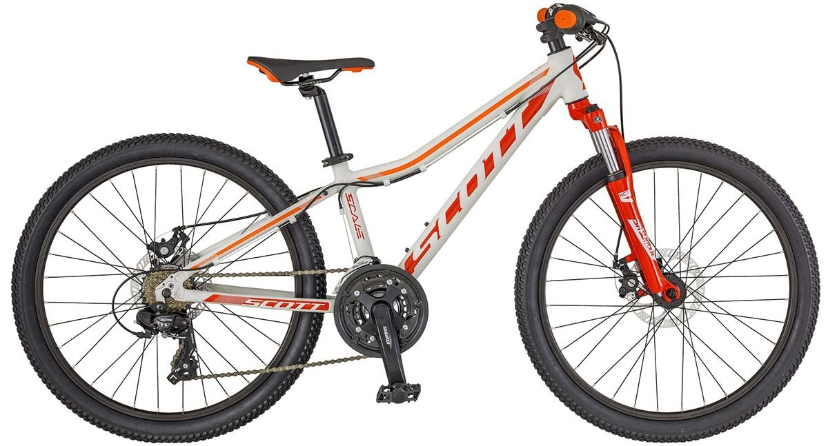 Велосипед Scott SCALE JR 24 DISC grey-orange