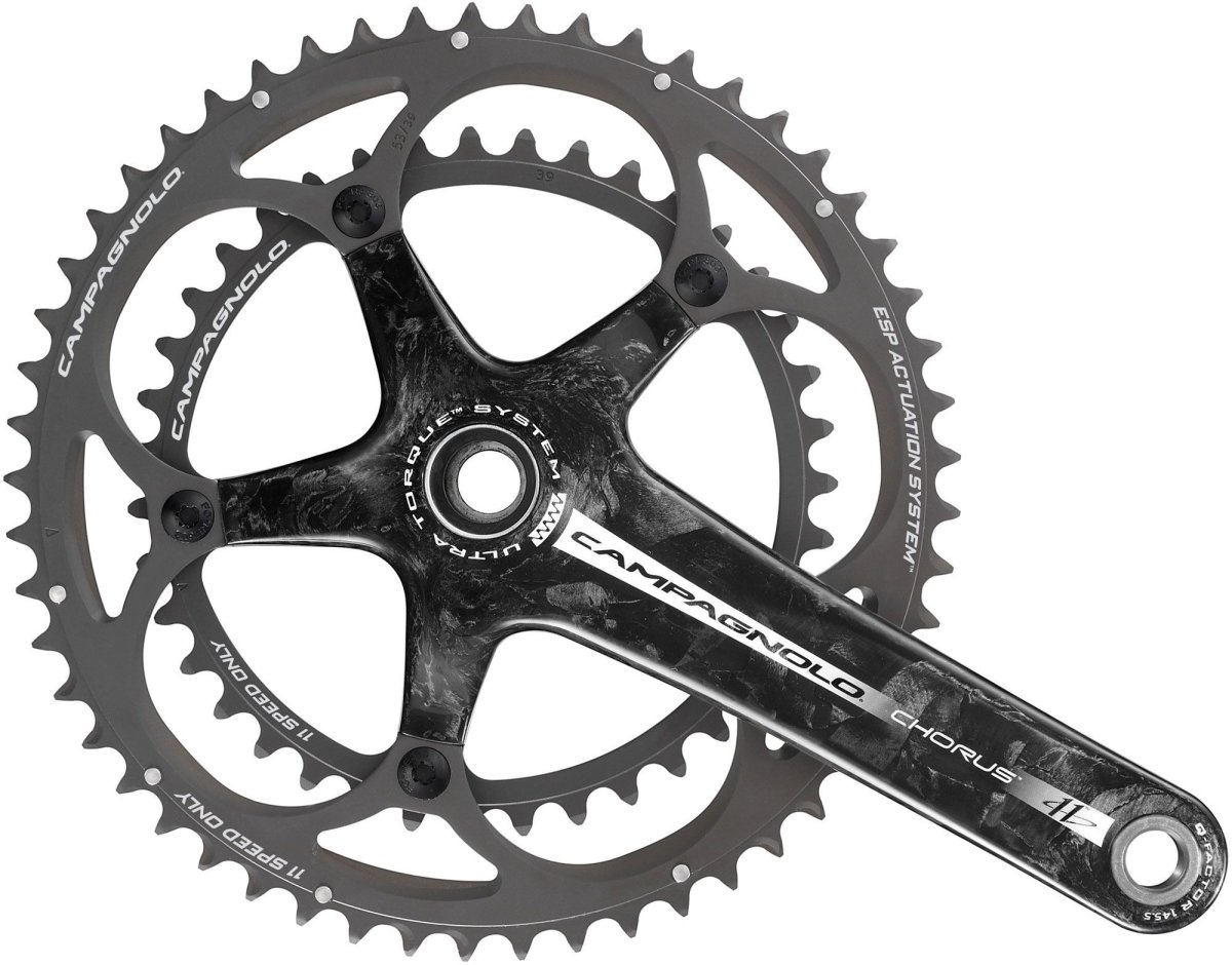 Шатуны Campagnolo Chorus Ultra-Torque 39-52T 11-speed 175mm черно-серые FC9-CH592C