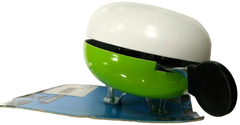 Звонок M-Wave white-green 420310 white green
