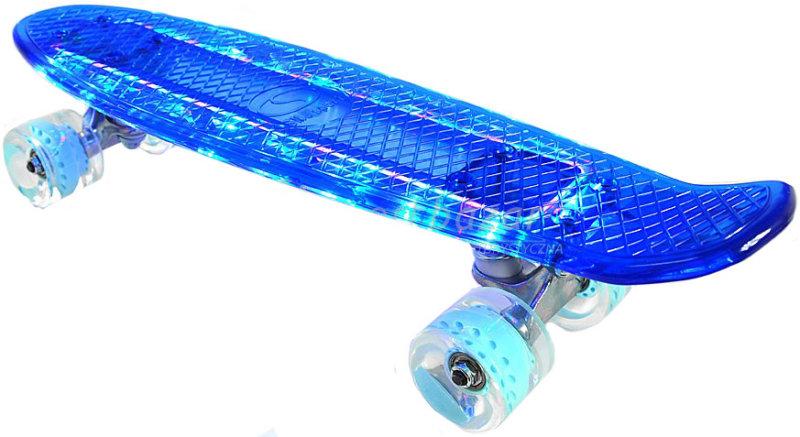 Скейтборд SMJ Sport CR-2206 PC с подсветкой blue - отзывы, видео ... 06fc472af96