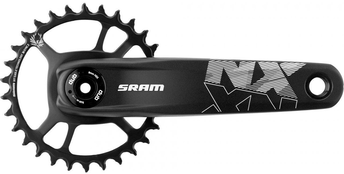 Шатуны Sram AM FC NX EAGLE DUB FAT4 170 BLK DM 30T 00.6118.525.007