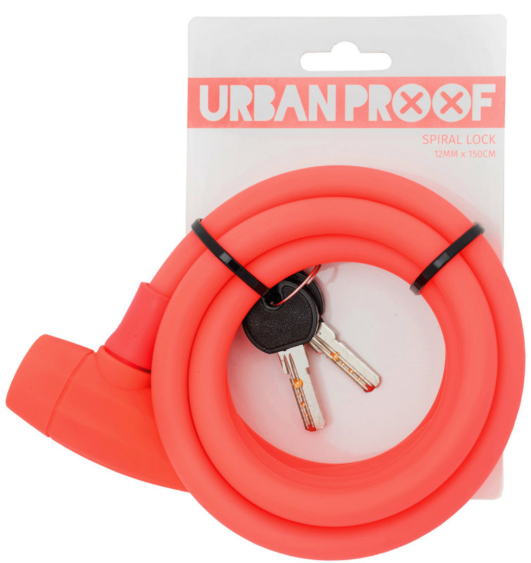 Замок под ключ Urban Proof SPIRAL LOCK matt coral pink 400073 UP