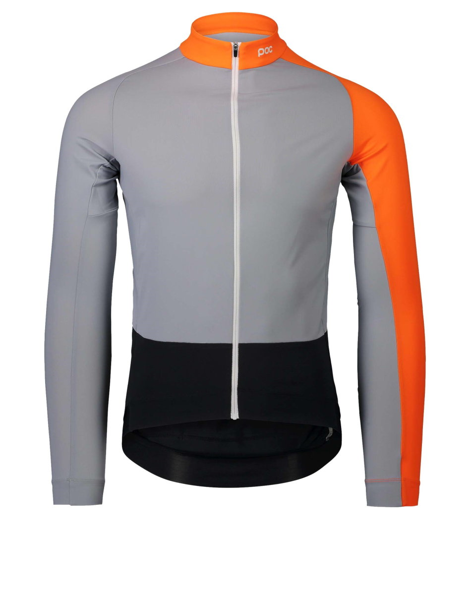 Велоджерси POC Essential Road Mid LS Jersey Granite Grey/Zink Orange PC 582108287MED1