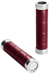 Ручки руля Brooks SLENDER LEATHER GRIPS maroon