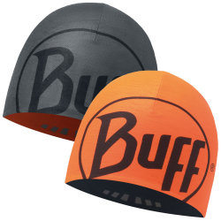 Шапка BUFF COOLMAX REVERSIBLE HAT graphite-orange fluor