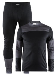 Термобелье Craft BASELAYER SET black-dkgrey-melange