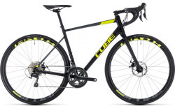 Велосипед Cube ATTAIN RACE DISC black-flashyellow