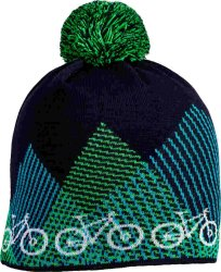 Шапка Cube BEANIE BIKE BOBBLE blue-green