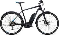 Велосипед Cube CROSS HYBRID PRO ALLROAD 400 black-blue