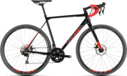 Велосипед Cube CROSS RACE black-red