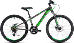 Велосипед Cube KID 240 DISC grey-flashgreen